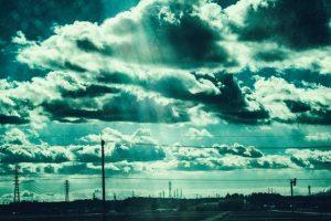 雲と天使の階段