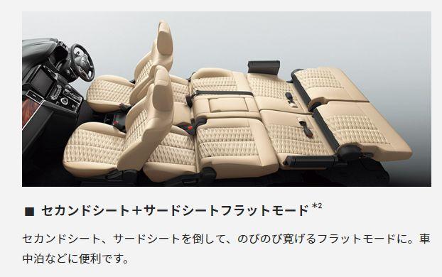 セカンドシート+サードフラットモード