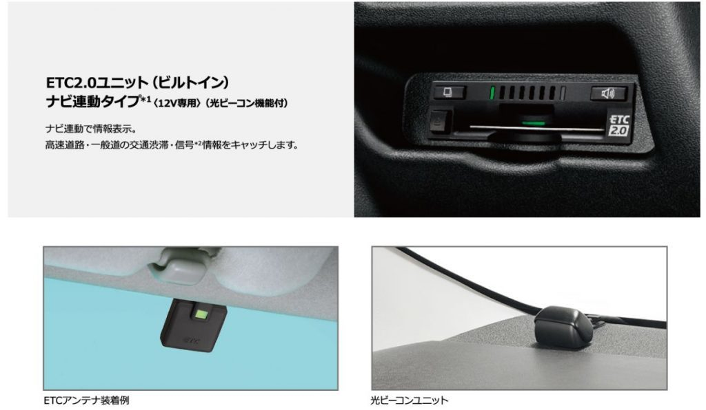 ETC2.0ユニット(ビルトイン)・ナビ連動タイプ(光ビーコン機能付)