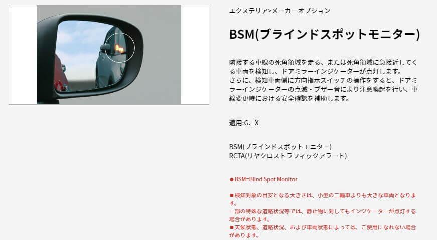 BSM(ブラインドスポットモニター)