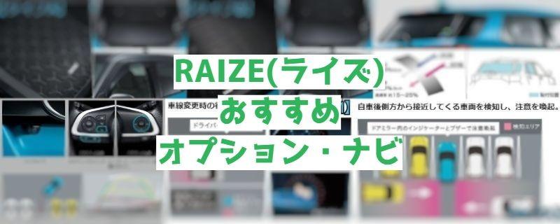 RAIZE(ライズ)おすすめオプション・ナビ