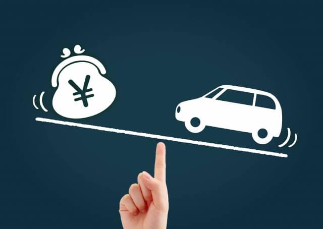 車とお金の天秤